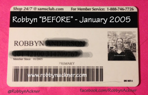 Robbyn 2005 Sams Club Membership Card